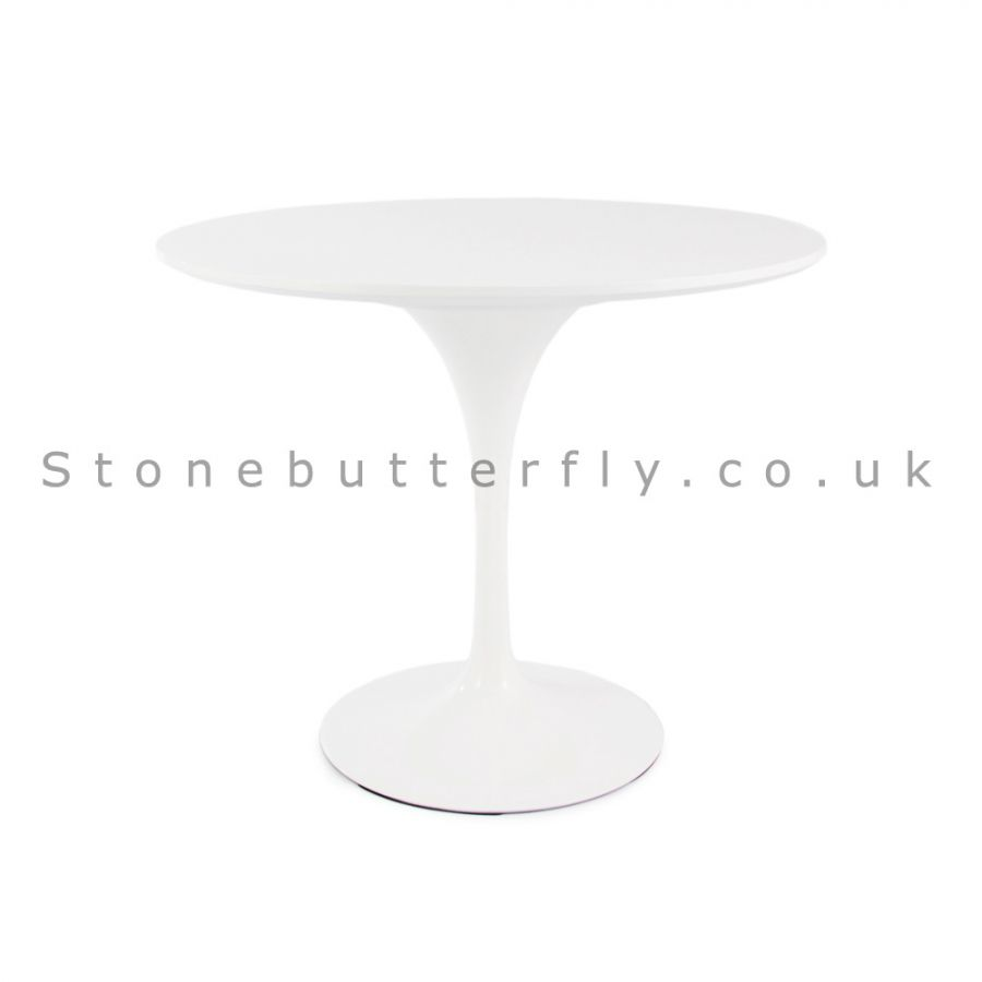 tulip table and chairs uk office chair herman miller style eero saarinen inspired white top 90cm diameter