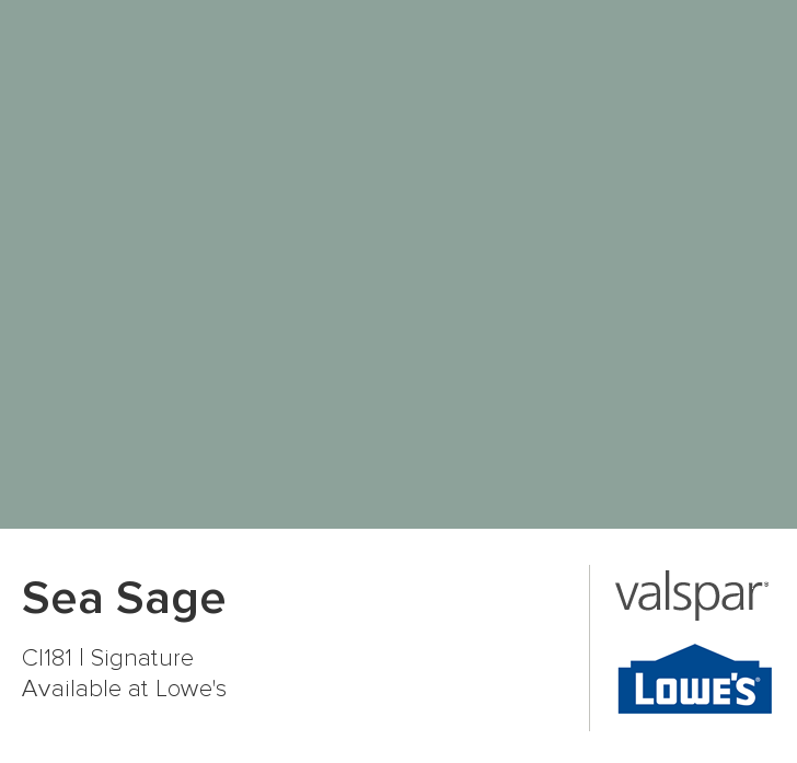 Sea Sage from Valspar Goes with any other color. Luv it ...