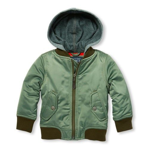 8f65e83b5 Baby And Toddler Boys Hooded Bomber Jacket