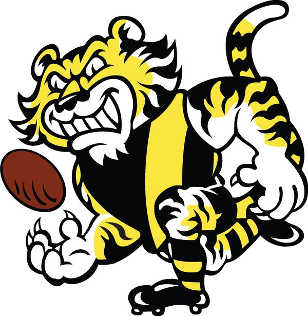 richmond tigers logo richmond logo page colouring pages tigers pinterest tigers. Black Bedroom Furniture Sets. Home Design Ideas