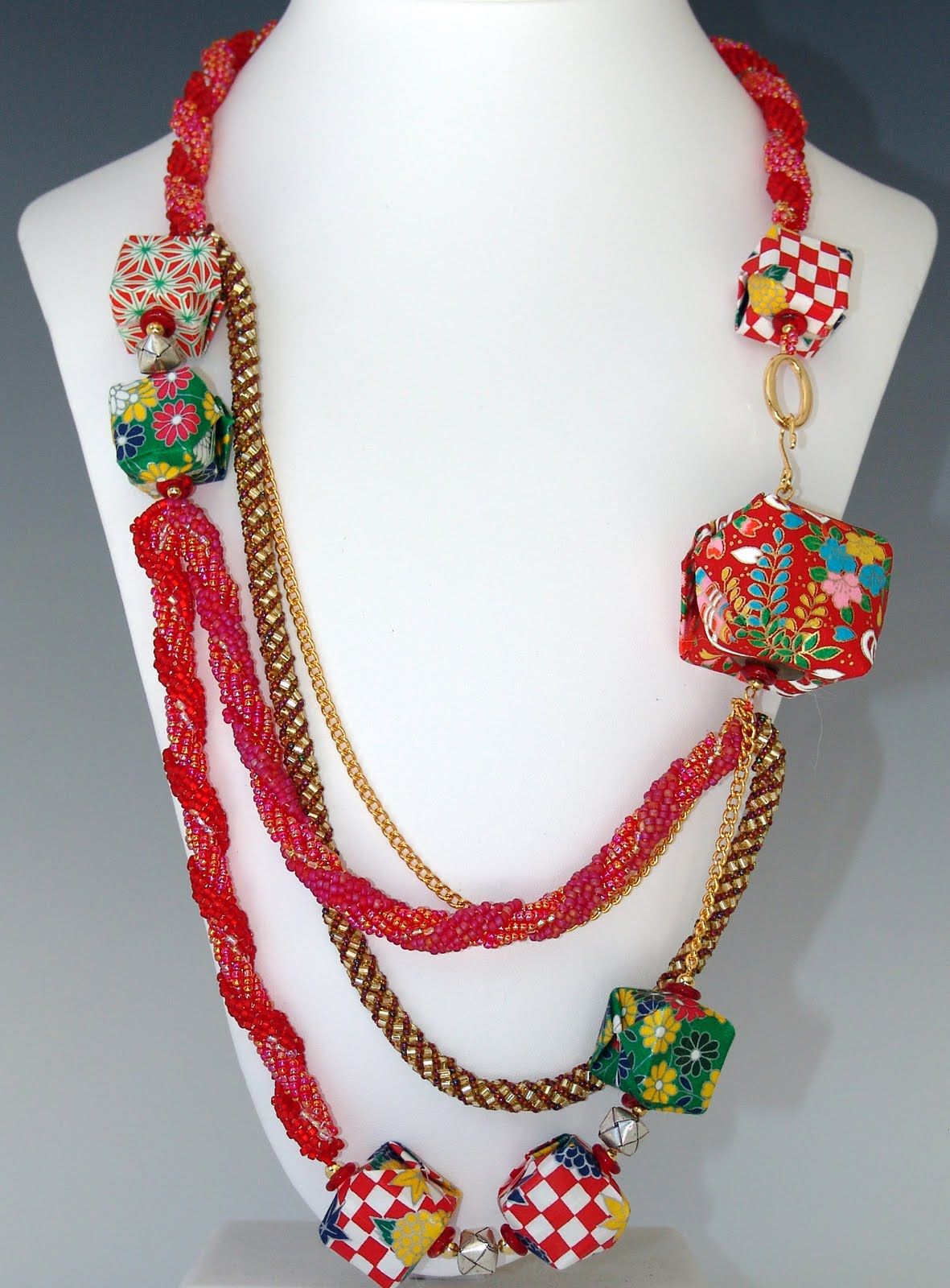 origami necklace, inspiration