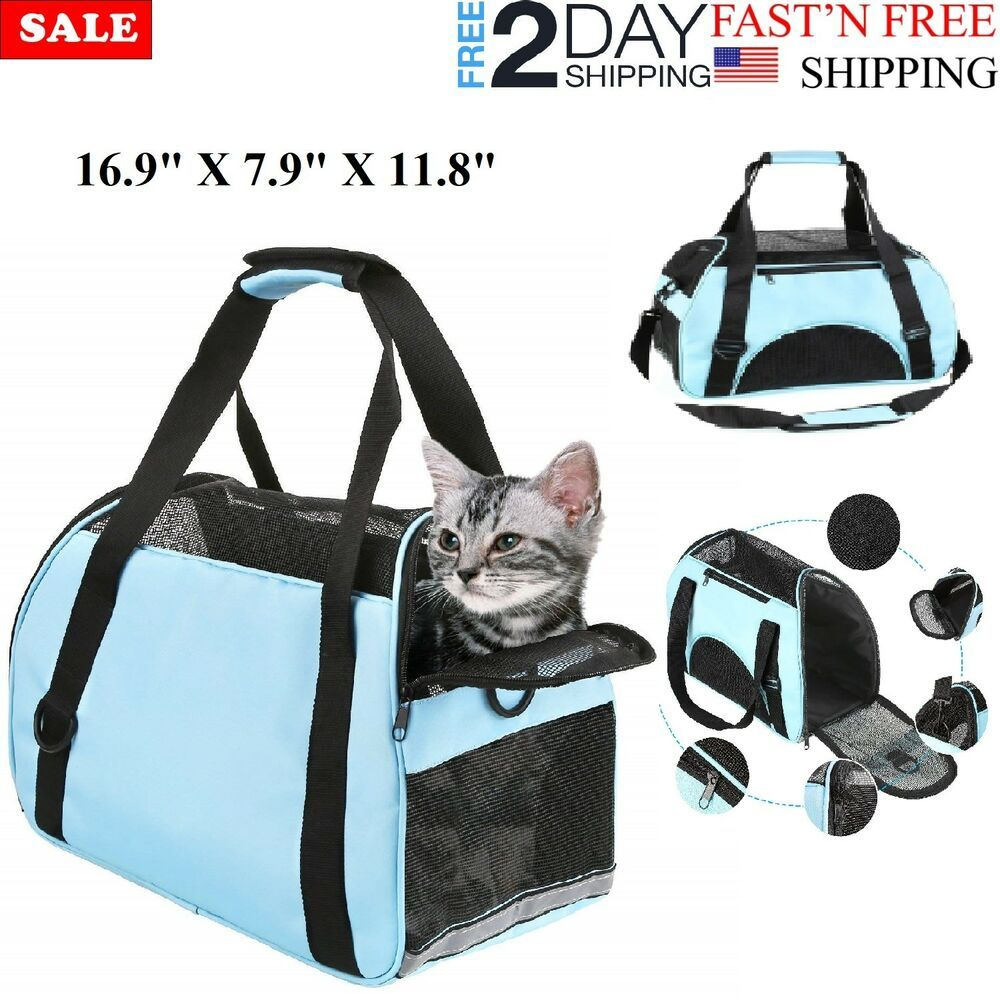 f8ab116cc4 Cat Carrier Airline Shoulder Bag Pet Portable Carrier Approved Under Seat  Small #Branded