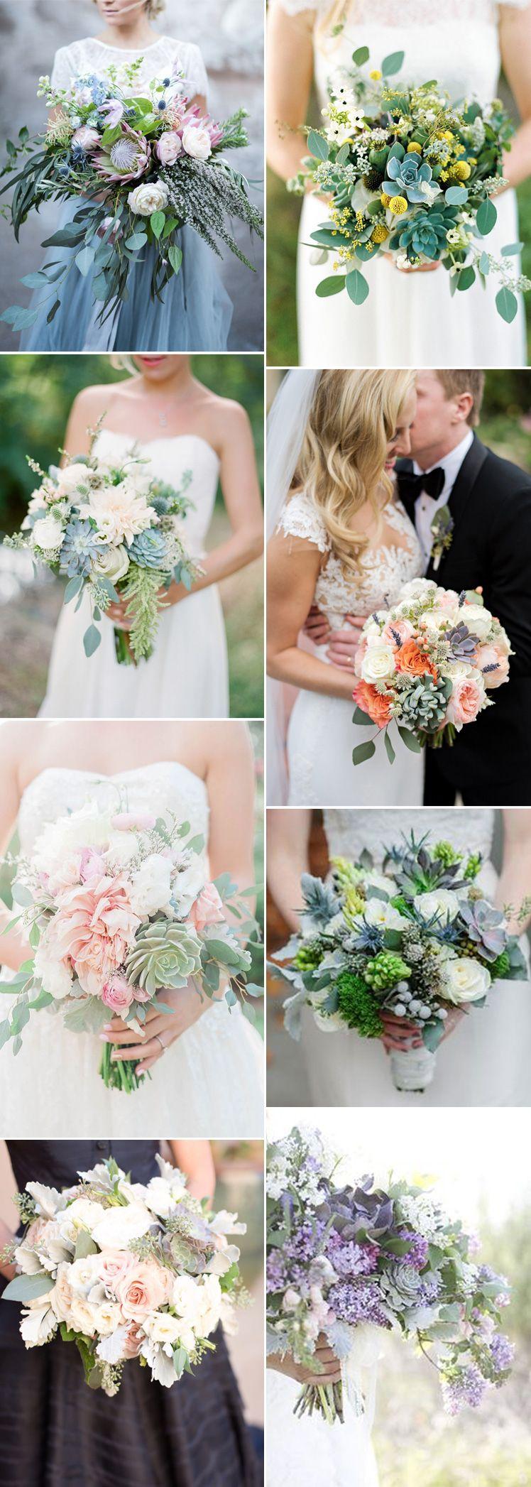 Fabulous Succulent Wedding Bouquet Ideas Succulent