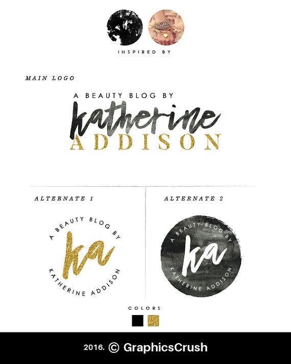 Gold Logo Design Beauty Blog Logo Black And White Logo Blog Logo