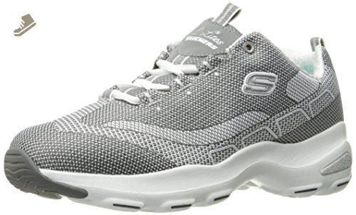 Skechers Sport Women S D Lite Ultra Fashion Sneaker Gray 9 5 M