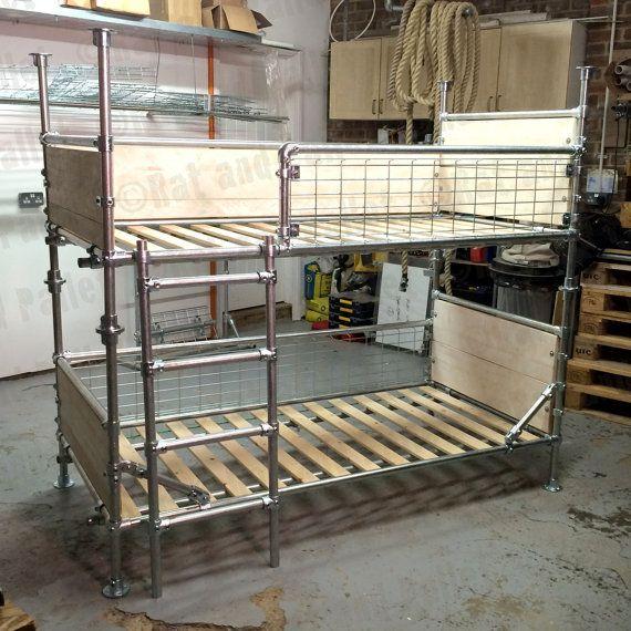 5 Wonderful Ideas Of Triple Bunk Beds For Your Kids Bedroom Diy Loft Bed Loft Bed Industrial Bunk Beds