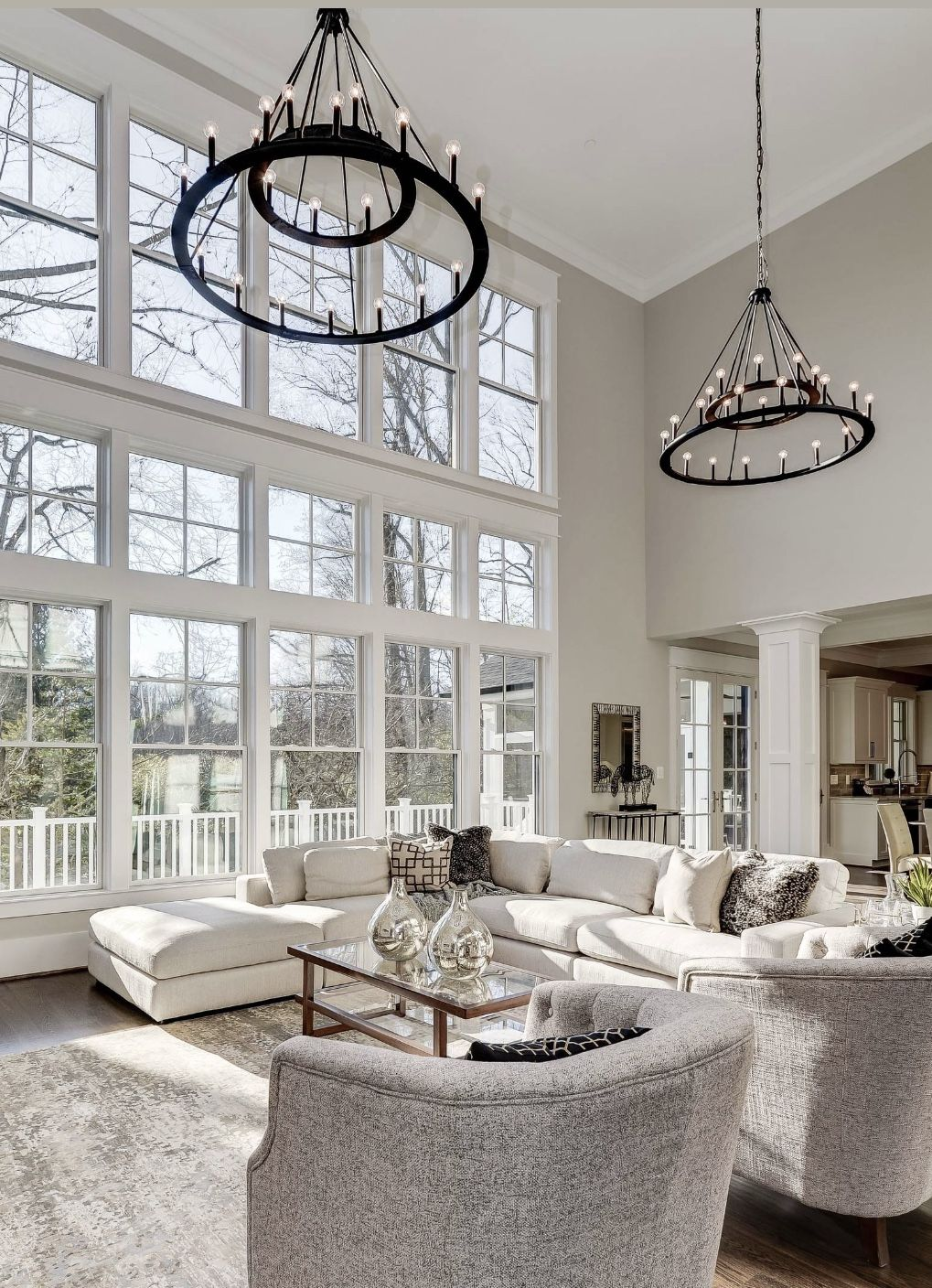 Best Luxury White Living Room In Transitional Style With White 400 x 300