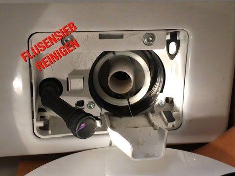 Flusensieb der Waschmaschine reinigen / Waschmaschine