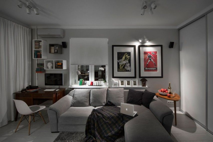 Compact Bachelor Haven in Moscow by M2 Project 17