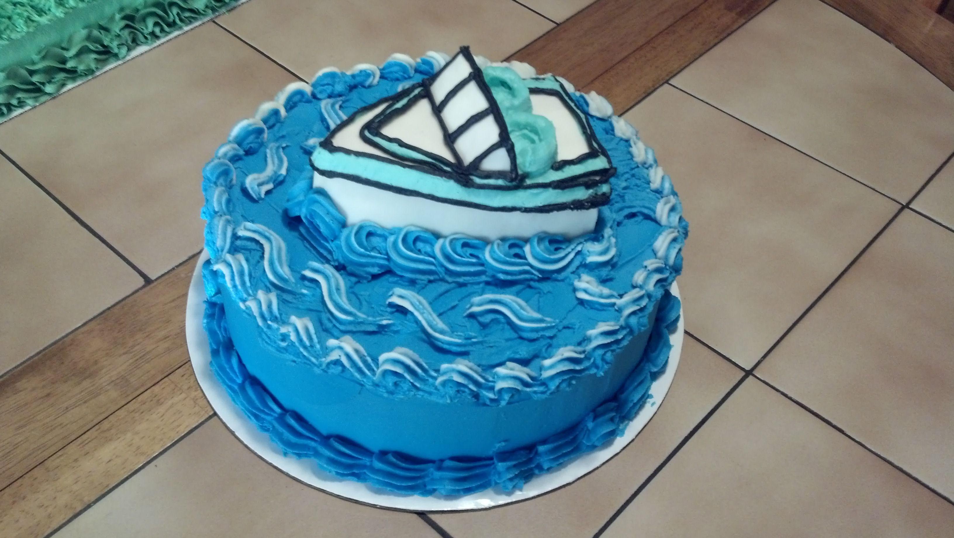 Boating Birthday Cake