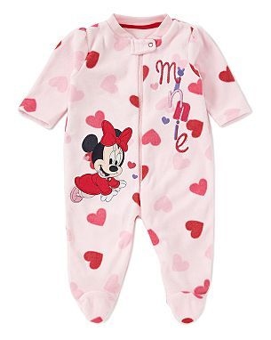 7d10b4b3b Minnie Mouse Baby Fleece Sleepsuit