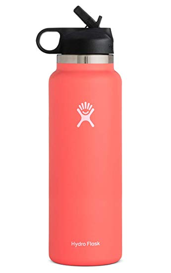 Amazon Com Hydro Flask Wide Mouth 2 0 Water Bottle Straw Lid Multiple Sizes Colors Sports Outdoors Hydro Flask Water Bottle Flask Water Bottle Flask