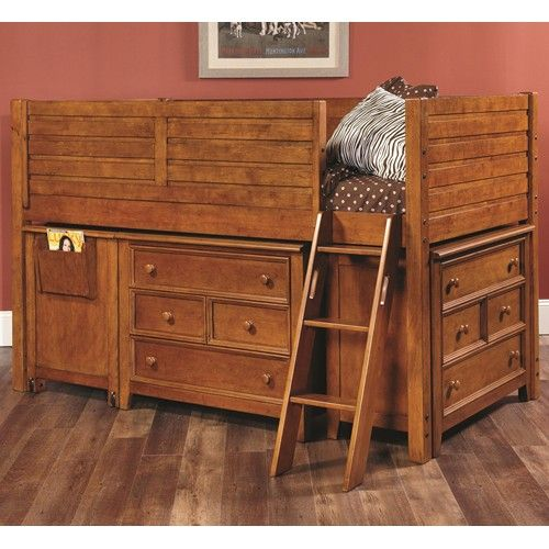 Willow Run Twin Low Loft Bed with 2 Dressers by Lea Industries #furniture #bedroom