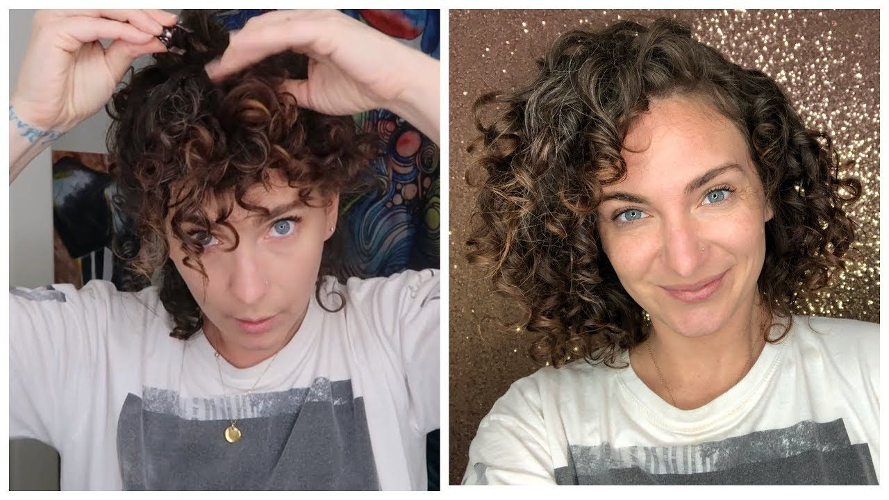 Sleeping Curly Medusa Clipping Sleep Routine For Short Curly Hair Short Curly Hair Bob Haircut Curly Curly Hair Styles
