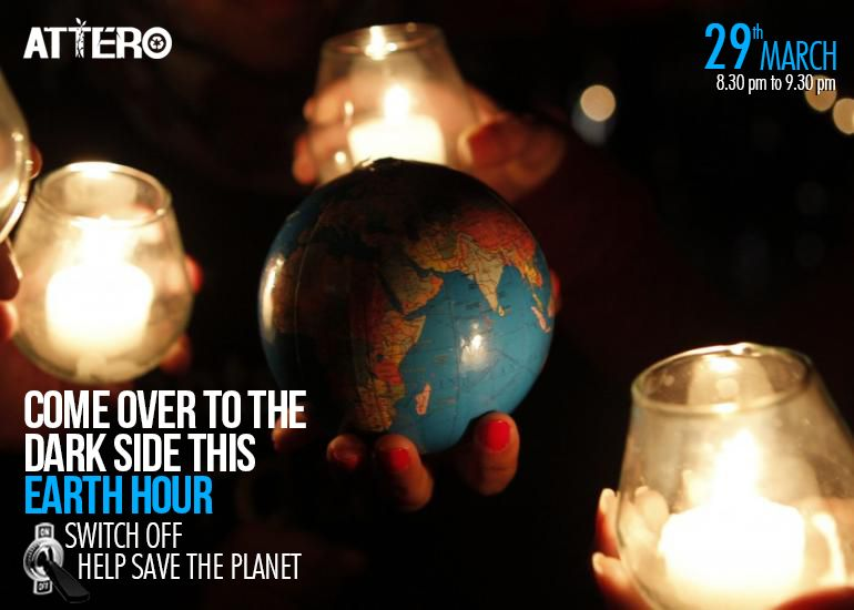 Saving the #World isn't tough! #SwitchOff your light during #EarthHour!  Celebrate Earth Hour this year! Here are 5 things to do during Earth Hour: http://www.atterobay.com/blogs/when-the-lights-go-out-5-things-to-do-during-the-earth-hour/  Spread the Word! #SavethePlanet!!!