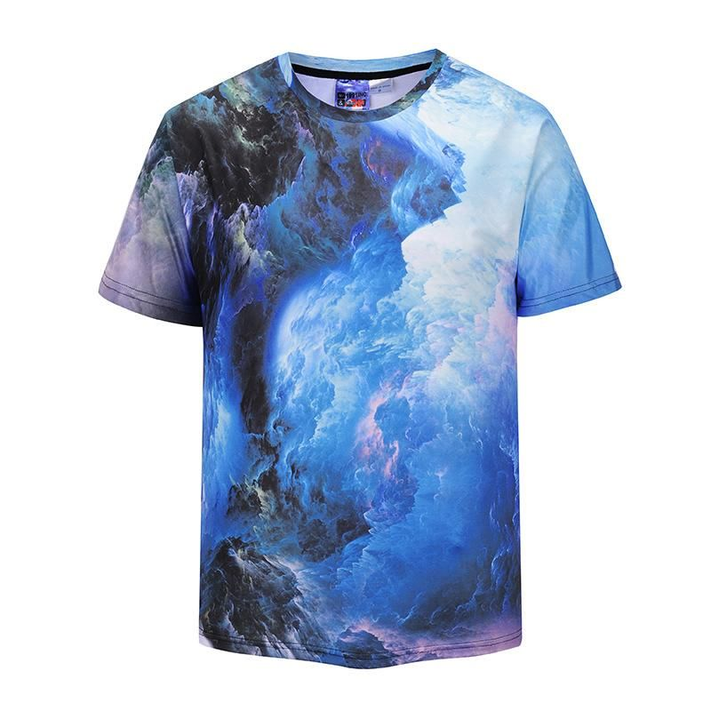 19543b6e Digital Cloud 3D Print Short Sleeve T-Shirt in 2019 | Men's T-shirts ...