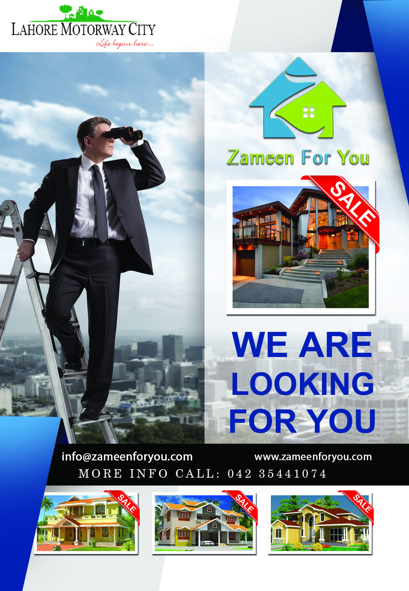 Zameen For You Shop house, Office flats, City