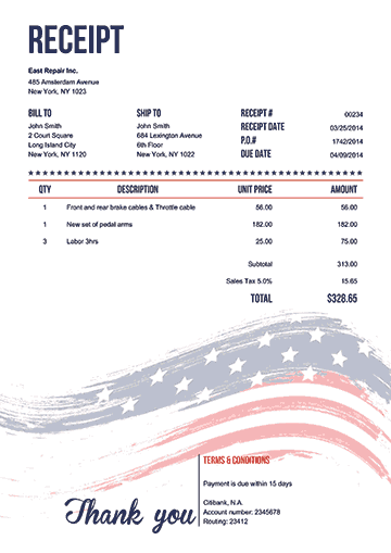 Free Bookkeeping Forms And Accounting Templates Printable Pdf Invoice Template Word Invoice Template Free Receipt Template