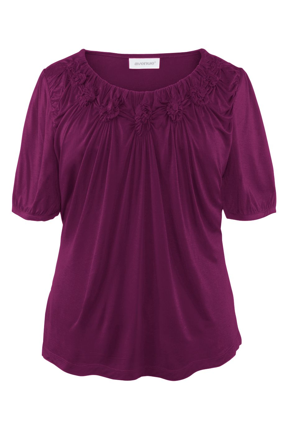 Plus Size Rosette Top   Plus Size Knit Tops & Tees   Avenue