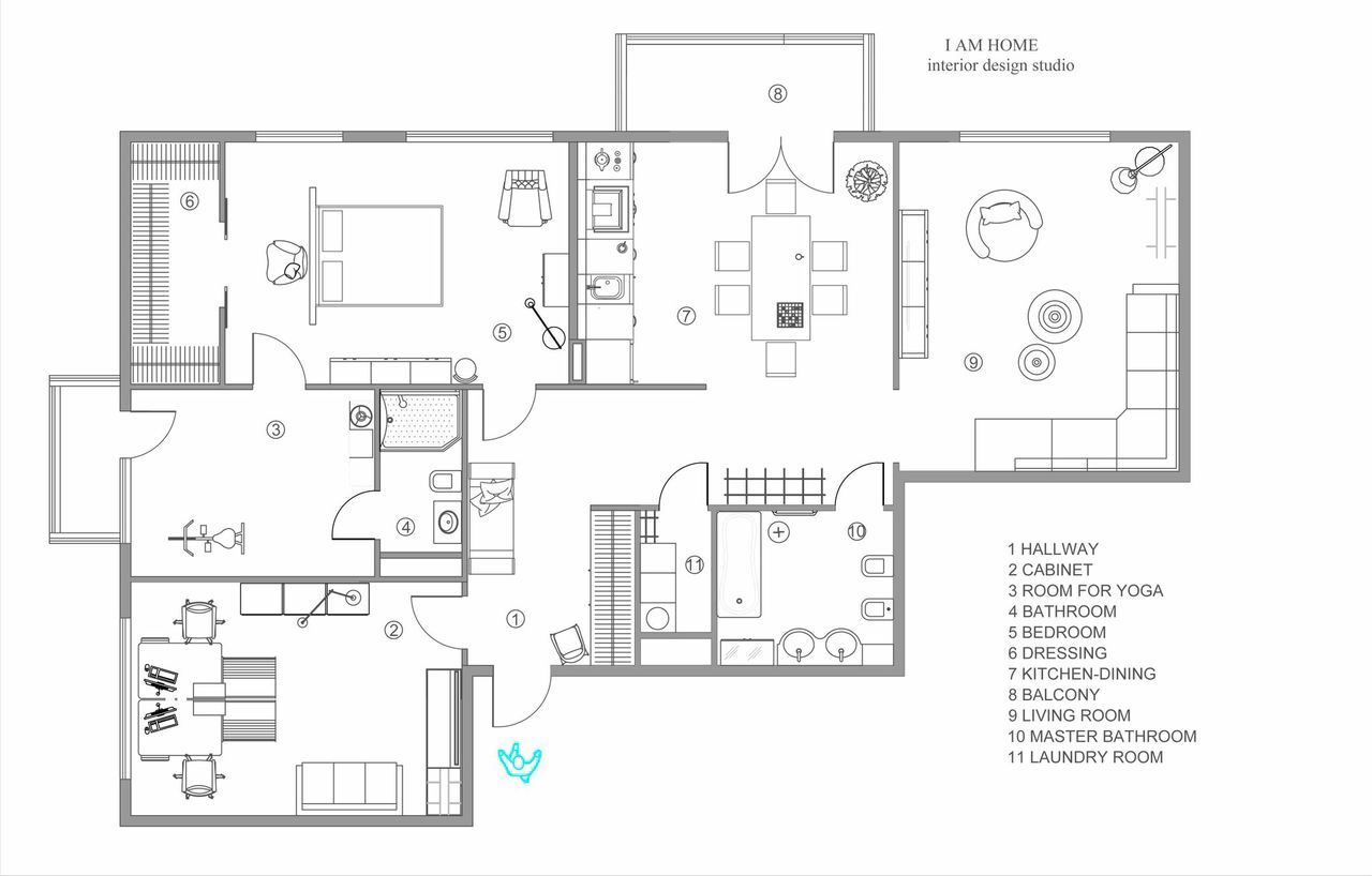 Modern Apartment Floorplan