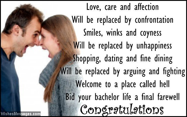 Funny Wedding Invite Poems: Funny Wedding Card Poems: Congratulations For Getting