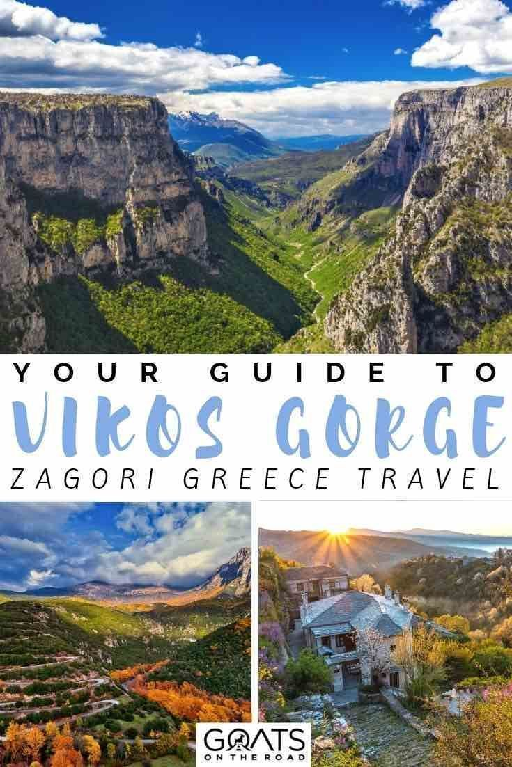 Zagori Greece: A Guide To The Vikos Gorge and Pindos National Park #ioannina-grecce Want to go hiking at the Vikos Gorge in Pindos National park? We've got the tips and ideas to help you plan your adventure, filled with what things to do, and what practicalities there are for hiking the trails in the Greece Zagori region. | #travelgreece #adventuretravel #vikosgorge #ioannina-grecce Zagori Greece: A Guide To The Vikos Gorge and Pindos National Park #ioannina-grecce Want to go hiking at the Vik #ioannina-grecce