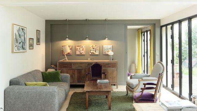 transformer un garage en habitation une maison lumineuse et d cloisonn e pinterest salons. Black Bedroom Furniture Sets. Home Design Ideas