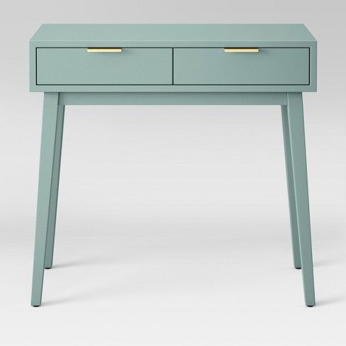 Add The Finishing Touch To Your Space With The Two Drawer Console Table From Project 62 The Clean Lines Bring Just The Right Amount Of Console Table Furniture Storage Spaces