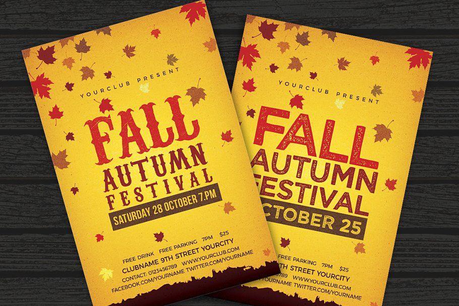 fall autumn festival flyer autumn fall festival templates flyer