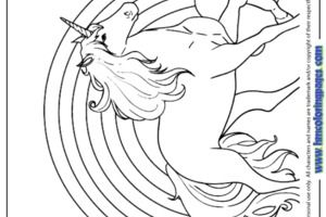 Rainbow and Unicorn Coloring Pages | Kleurplaten, Eenhoorn ...