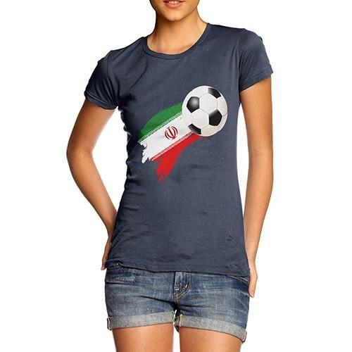 Iran Football Flag Paint Splat Women's T-Shirt