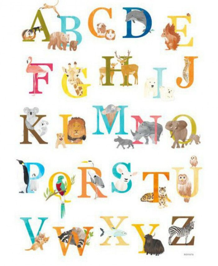 Magnifiek Alle abc dieren | School- Letter van de week - Abc poster, Animal @GX31