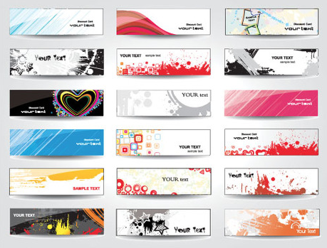 simple and modern vector banner designs free download