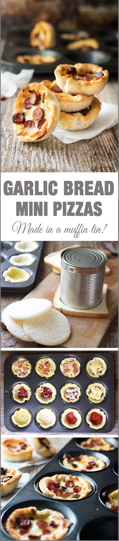 Garlic Bread Mini Pizzas (Muffin Tin)