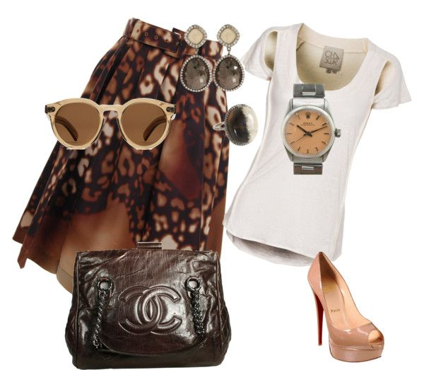 """Browns"" by celene310 on Polyvore"