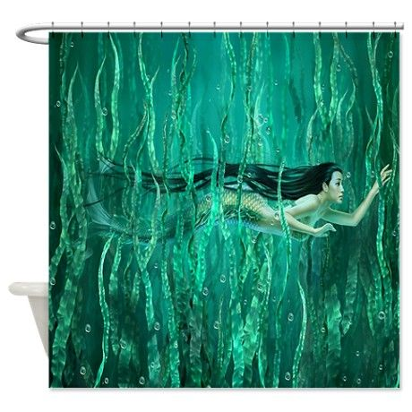 Mermaid Shower Curtain On Cafepress Com With Images Mermaid