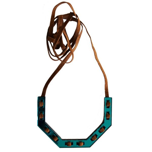 Ottagono Demi Necklace in Teal