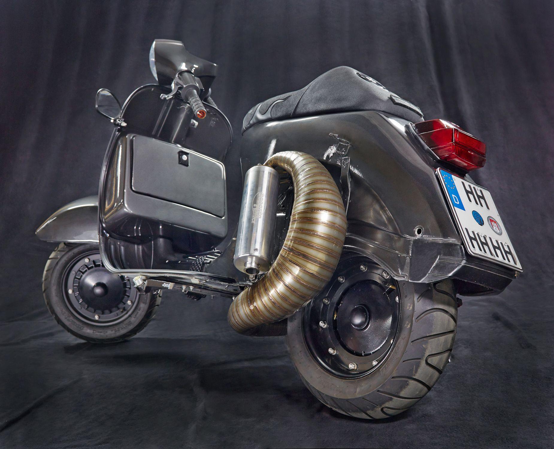 Custom Vespa PX 200 Bemerkenswerter Vespa PX 200 Umbau mit ...