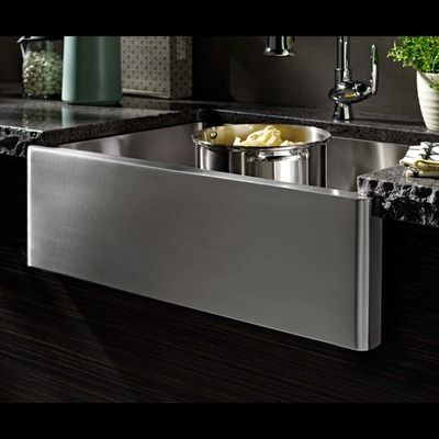 Porcher London 24 Single Bowl Farm Sink In Stainless Steel Wayfair 570 This Is Goin Stainless Steel Farmhouse Sink Stainless Steel Farm Sink Farm Sink