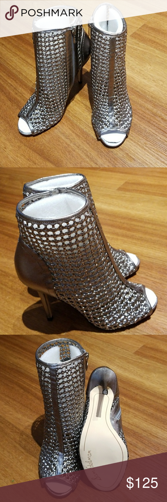 2bb00212a Sam Edelman Pewter caged peep toe bootie! NEW WITH TAGS!! Sold out  everywhere