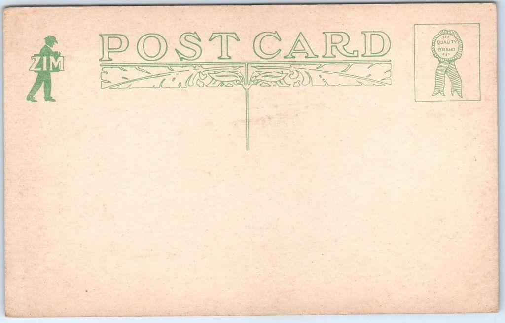 First presbyterian church back postcard presbyterian