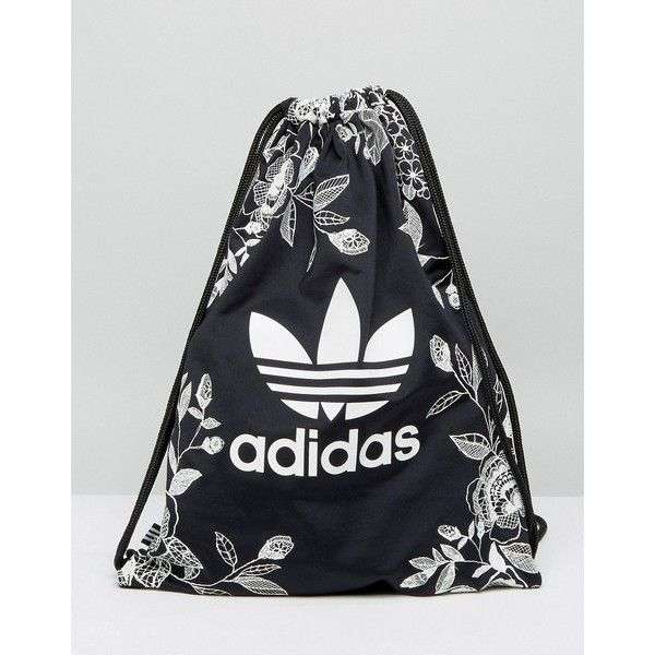 adidas Originals Farm Print Drawstring Backpack In Monochrome ...