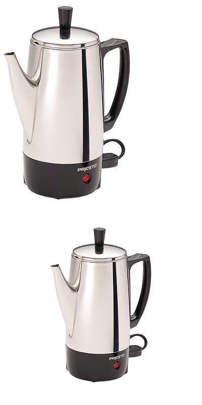 Presto 02822 6-Cup Stainless-Steel Coffee Percolator Electric Percolators /&
