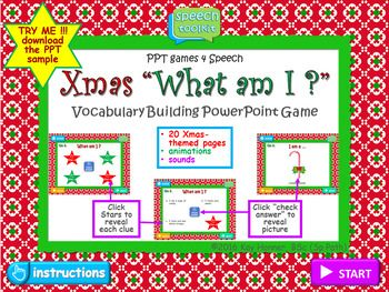 Christmas What Am I Vocabulary Building Powerpoint GameGreat