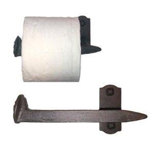 Cobre Railroad Spike Toilet Paper Holder Left
