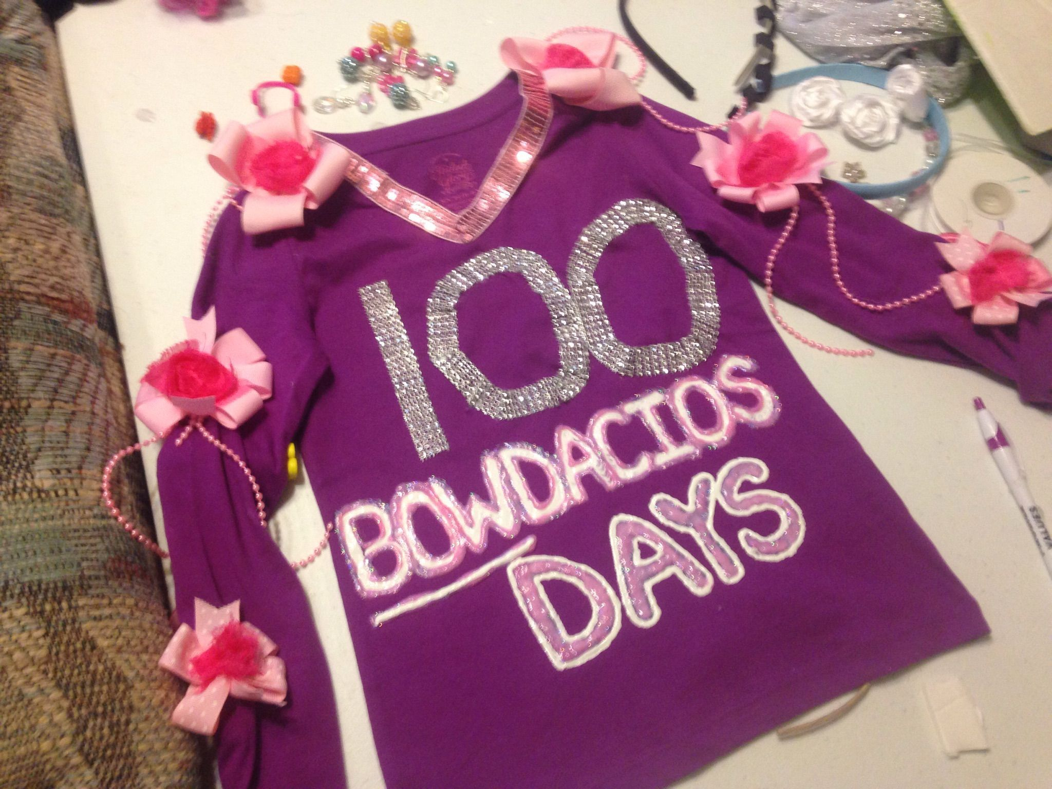 100 days of school, 100th day of school 100 bodacious days shirt. (see other pic for wrap around