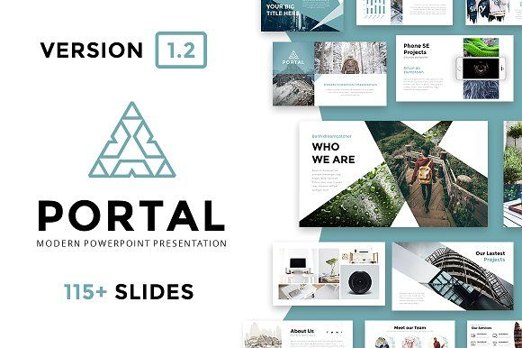 Portal Modern Powerpoint Template by Reshapely on @creativemarket ...