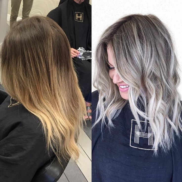 Cool Ash Blonde Balayage Shades Silver Shoulder Length Straight Beige Sandy Icy Hair Styles Ash Blonde Hair Ash Blonde Balayage