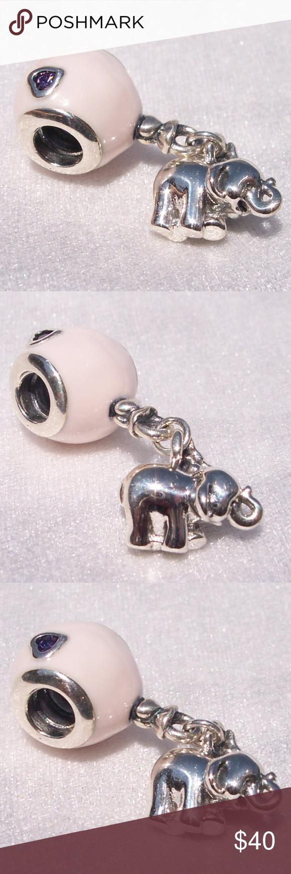Pandora Elephant Pink Balloon Bracelet Charm | Charm bracelet ...