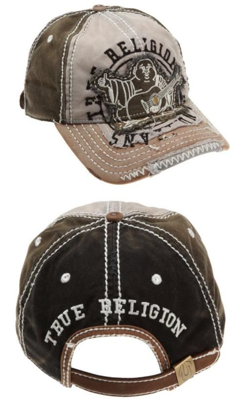 d0bbed6f1b1 Hats 163543  New True Religion Big Buddha Distressed Army Trucker Hat Cap  Tr 1101 (Black) -  BUY IT NOW ONLY   47.95 on eBay!